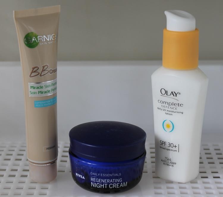 From left to right: BB cream, Night facial cream, Day facial cream