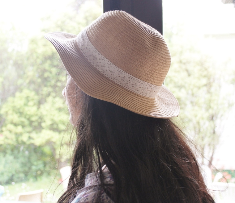 Thanks to my sister for posing for this picture!  Hat is from Kmart.